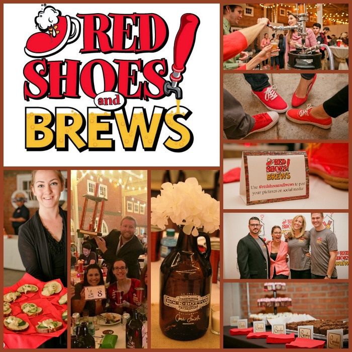 Red Shoes and Brews collage