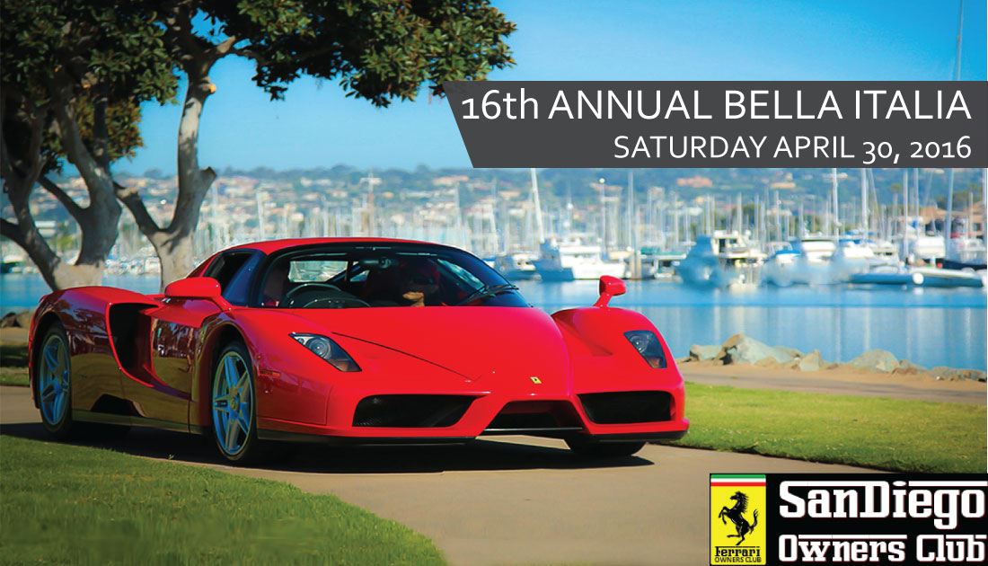 Exotic Car Show by San Diego Ferrari Owners Club