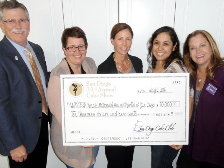 San Diego Cake Club Donates $10,000 to Ronald McDonald House