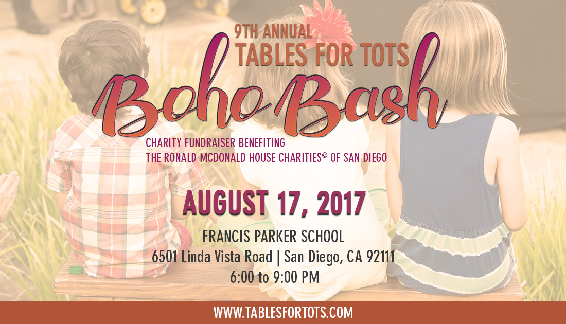 "Tables For Tots ""Boho Bash"""