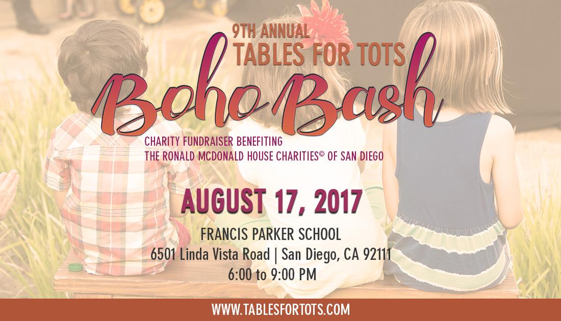 "Tables For Tots ""Boho Bash"""