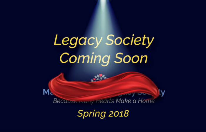 Legacy Society words with red curtain