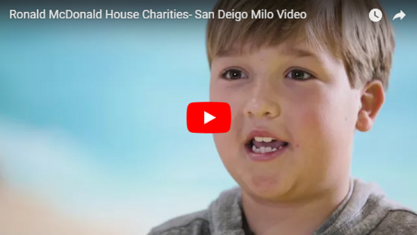 Milo tells you what the Ronald McDonald House means to him