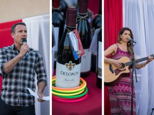 Emcee Carlo Cecchetto, wine toss, singer Rhea Makiaris