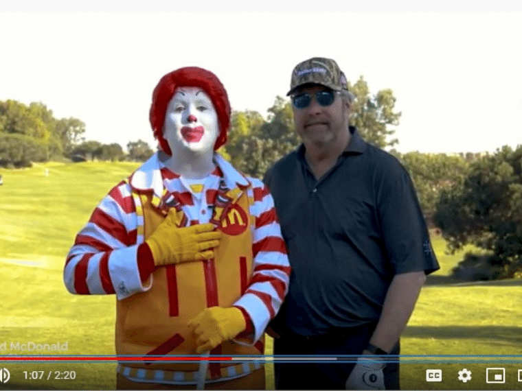 Ronald McDonald Joins in Teeing Up for Families
