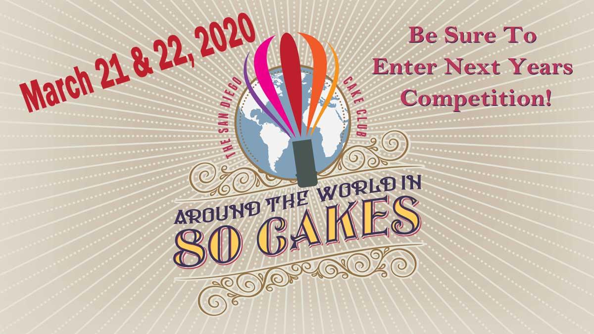 The San Diego Cake Club presents the 35th annual San Diego Cake Show Rockn' Cakes March 17-18, 2018