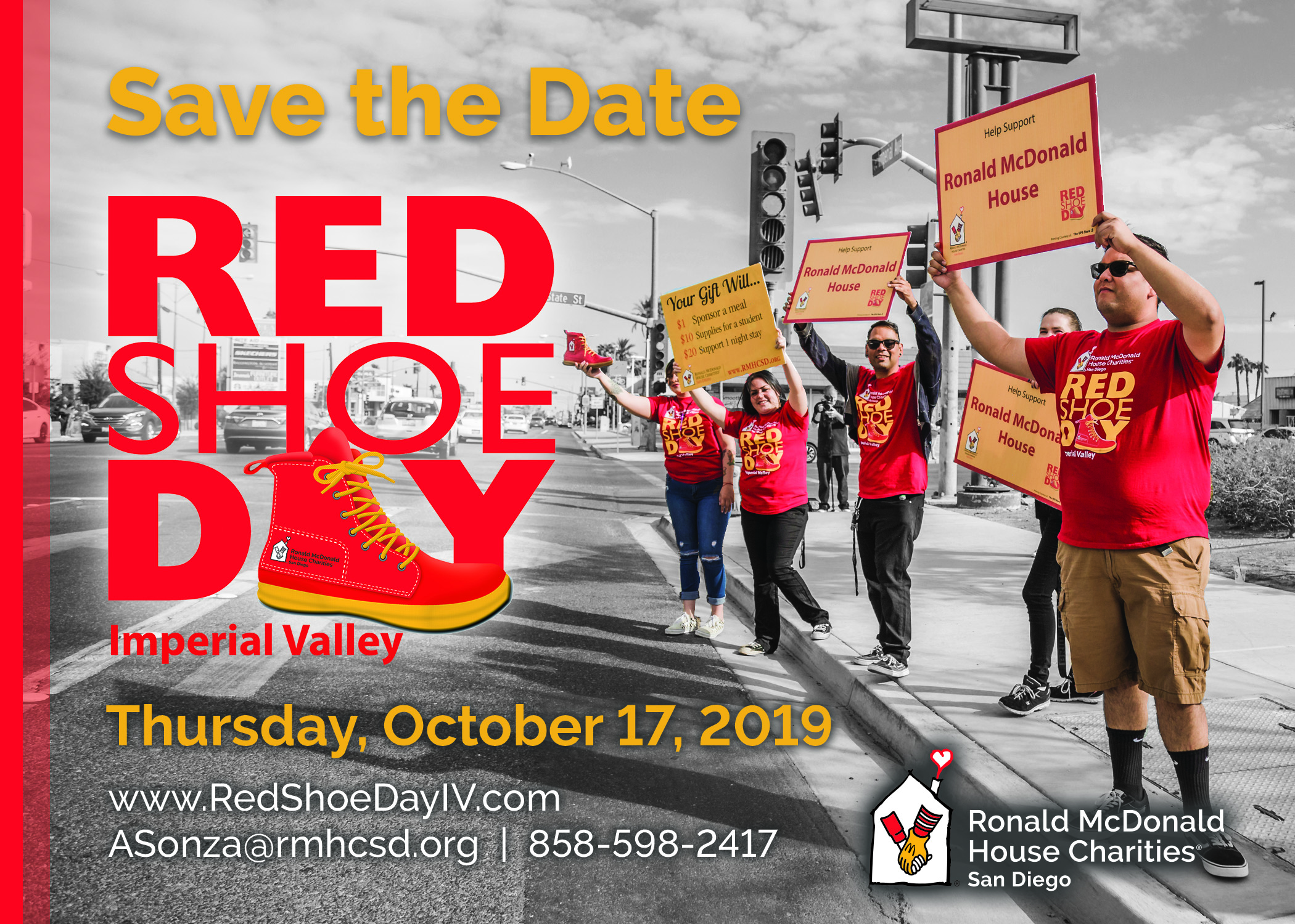 Save the Date for Red Shoe Day Imperial Valley October 17, 2019